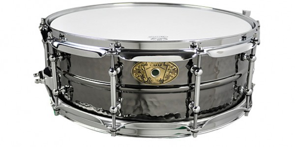 "LUDWIG Snare Drum LB416KT 5x14"" Black Beauty, Hammered Shell, Tube Lugs"