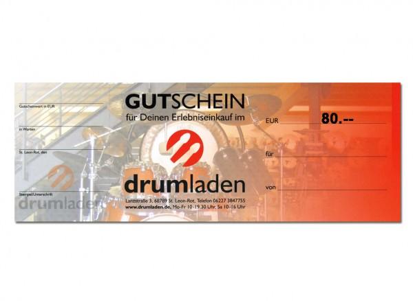 drumladen-Gutschein 80 Euro?