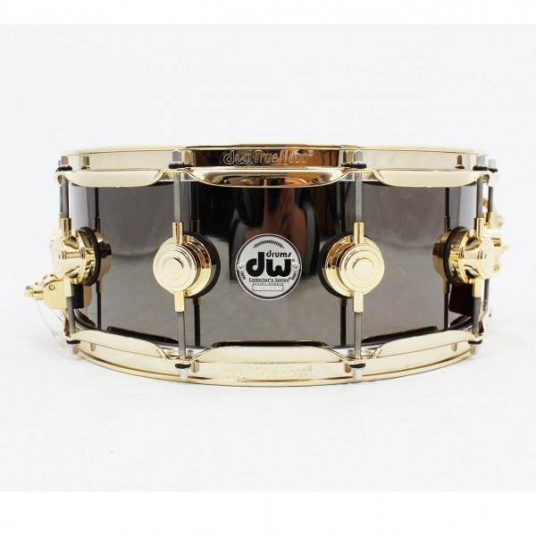 "DW Snare 14"" x 5,5"" Black Nickel over Brass Gold HW"